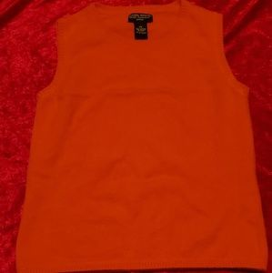 Daniel Bishop orange cashmere vest